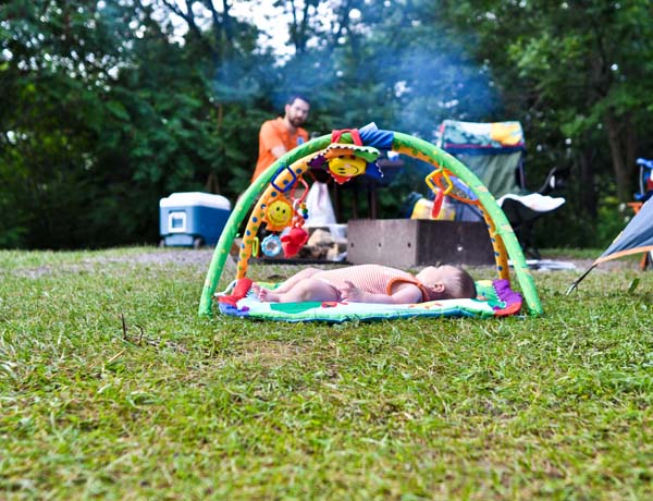 Baby goes camping